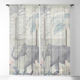 The Journey of the Elephant Sheer Curtain