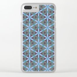 Flower of Life Pattern 1 Clear iPhone Case