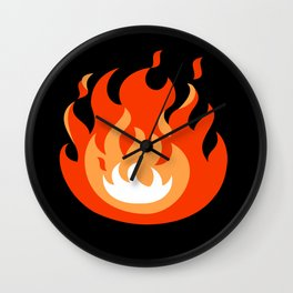 Zelda Fire Wall Clock