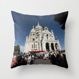 Paris, The Sacre Coeur (Sacred Heart) Throw Pillow