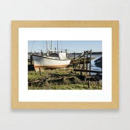 Boat At Skipool Creek Framed Art Print