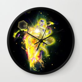 Golden Frieza Wall Clock