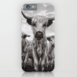 Highland Cattle Mixed Breed Mono iPhone Case