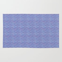Cool blue abstract thread design Rug