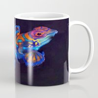 duvet cover Mugs featuring AMAZING CREATURE DUVET COVER by aztosaha