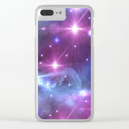 Fantasy Space Glow Clear iPhone Case