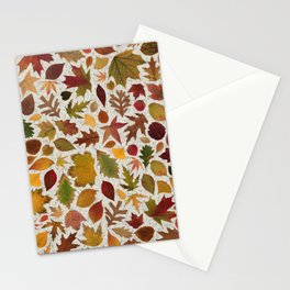 Autumn Leaves Speckle Stationery Cards