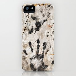 Grunge Wall Imprints iPhone Case