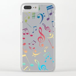 Musical Notes XI Clear iPhone Case