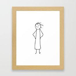 I'm Still Waiting! Framed Art Print