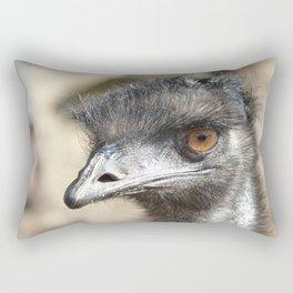 Inquisitive Emu Rectangular Pillow