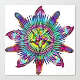 "Passiflora The ""Passion Flower"" Psyhcedelic Abstract Canvas Print"