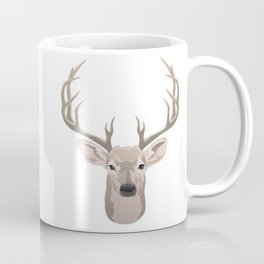 Beautiful buck dear head with big antlers Coffee Mug