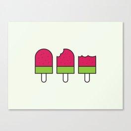 Watermelon Icypole Canvas Print