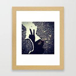 Peace of Me Framed Art Print
