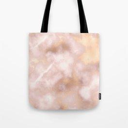 Blush pink faux gold vintage elegant marble Tote Bag