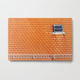 Tiled Roof After Summer Rain Metal Print