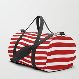 Red Abstract Wavy Lines Pattern Duffle Bag