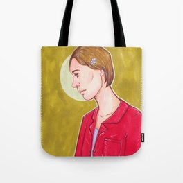 Girl under the Moon Tote Bag