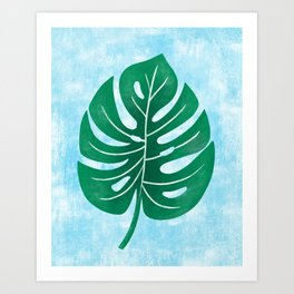 Monstera Tropical Leaf Swiss Cheese Plant Art Print