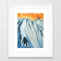 yeti Framed Art Prints featuring Yeti by ArtSeriously
