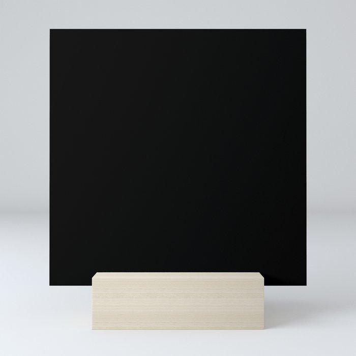 Simply Midnight Black Mini Art Print