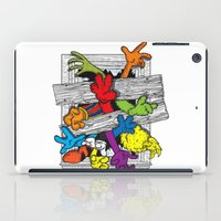cartoons iPad Cases featuring Cartoons Attack by luis pippi