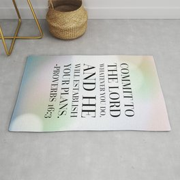 Proverbs 16:3 Bible Quote Rug