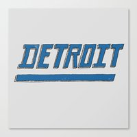 detroit Canvas Prints featuring Detroit by Matt Edward