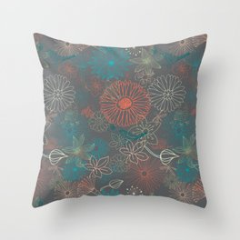 Grey Dreams Throw Pillow