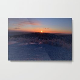 Alpenglow on Ester Dome at -31ºF Metal Print