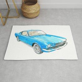 65 Mustang Fastback Rug