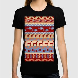 Inca Animals Fish and Birds Pattern T-shirt