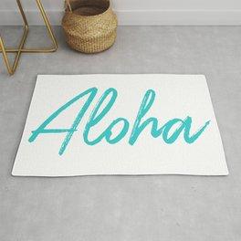 Aloha in Tropical Blue Rug
