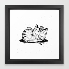Scat or Die Framed Art Print