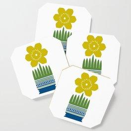 Nordic Yellow Flower Coaster