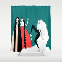 girls Shower Curtains featuring girls by 7043