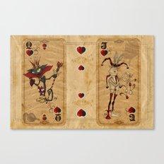 Oddity Playcards - Joker & Queen Canvas Print
