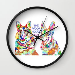 The Woof House 2020 Wall Clock