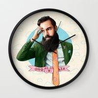montana Wall Clocks featuring Mr. Montana by keith p. rein