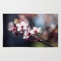 sakura Area & Throw Rugs featuring Sakura by Lara Brambilla