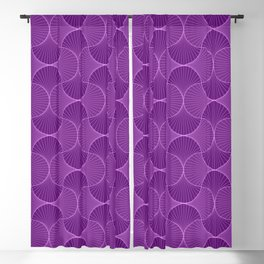 Lilac Abstract Flower Petals Pattern Blackout Curtain