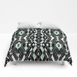 Art Deco Mint Comforters