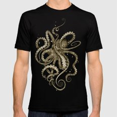 Octopsychedelia Sepia MEDIUM Mens Fitted Tee Black