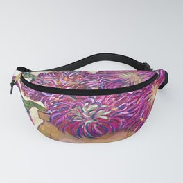 Proteas in Terracotta Vase Fanny Pack