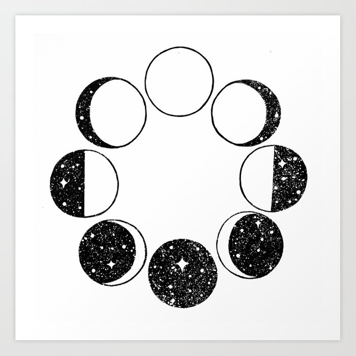 Moon Phases Art Print by dopenuji | Society6