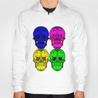 sugar skulls Hoodies featuring Sugar Skulls by Spooky Dooky