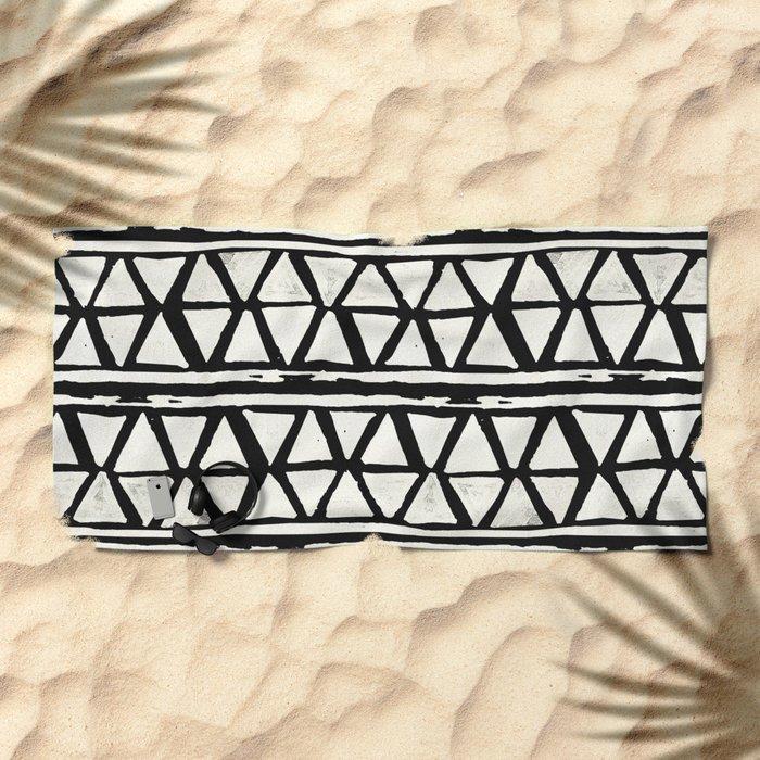 Tribal Geometric Band Beach Towel