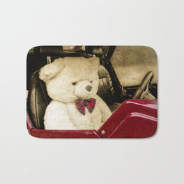 TEDDY GOES FOR A DRIVE Bath Mat