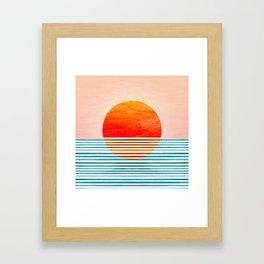 Minimalist Sunset III Framed Art Print